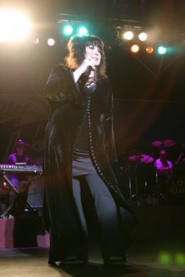 Watching over Ann Wilson of Heart during show.