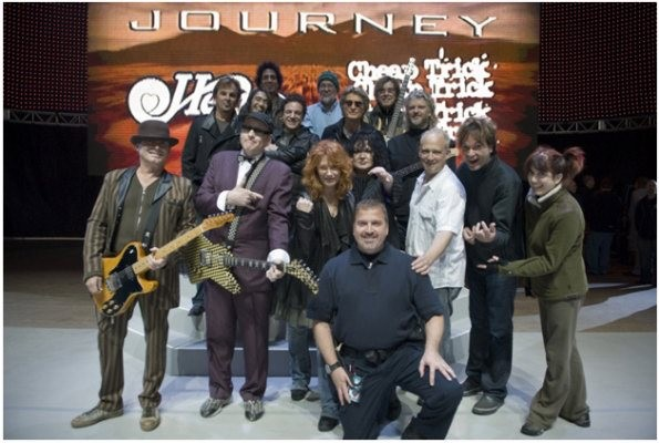 Yours truly end of tour photo with Heart, Cheap Trick and Journey!