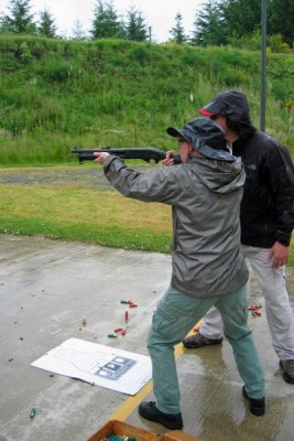 Instruction on firing the Remington 870 Breacher SBS at the FBI Range, Covington, WA FBI.