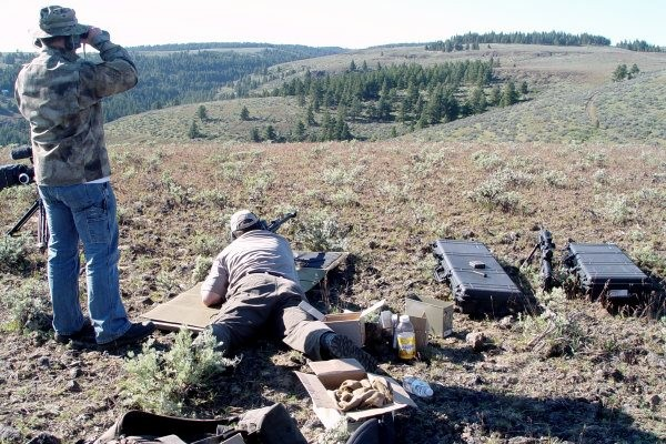 Precison Shooting Course with a .50 BMG at target 900 yards out at Iron Horse Ridge, WA.