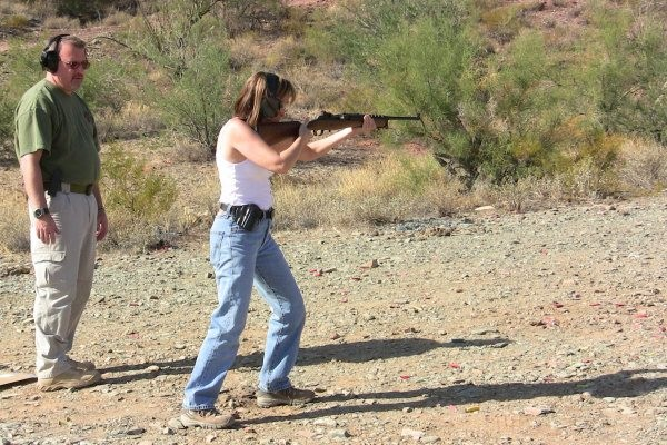 Carbine instruction in the desert outside Phoenix, AZ.