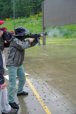 Instruction with the Heckler and Kock MP5 SMG at the FBI Range, Covington, WA.